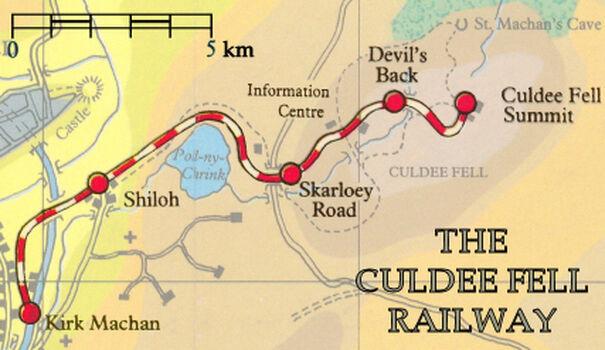 カルディー・フェル鉄道の地図