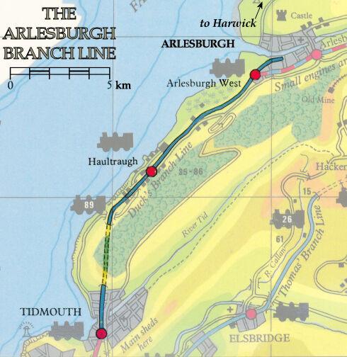 ダックの支線の地図