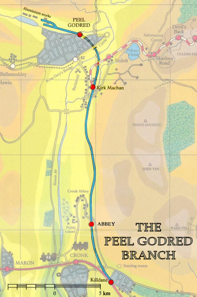 ピール・ゴッドレッド線の地図