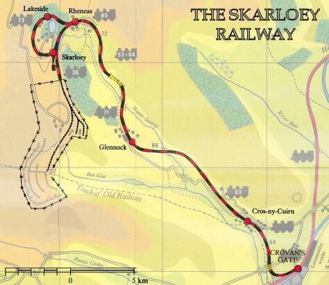 スカーロイ鉄道の地図