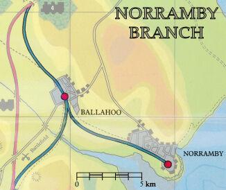 ノランビー線の地図