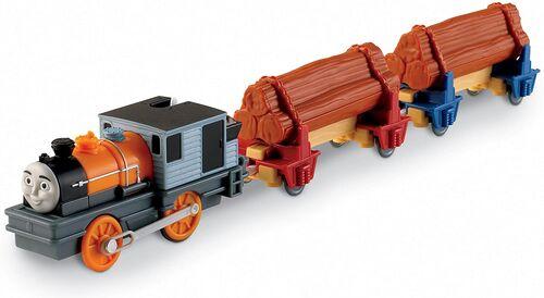 トラックマスターのミスティアイランドの丸太運搬貨車(ダッシュ付属)