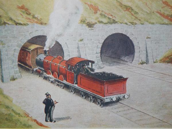 ウィリアム・ミドルトンが描いた赤い機関車A