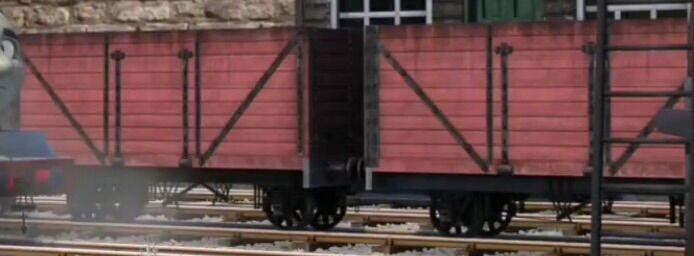 TV版長編第11作のアールズデール鉄道の無蓋貨車