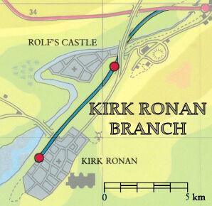 カーク・ローナン線の路線図