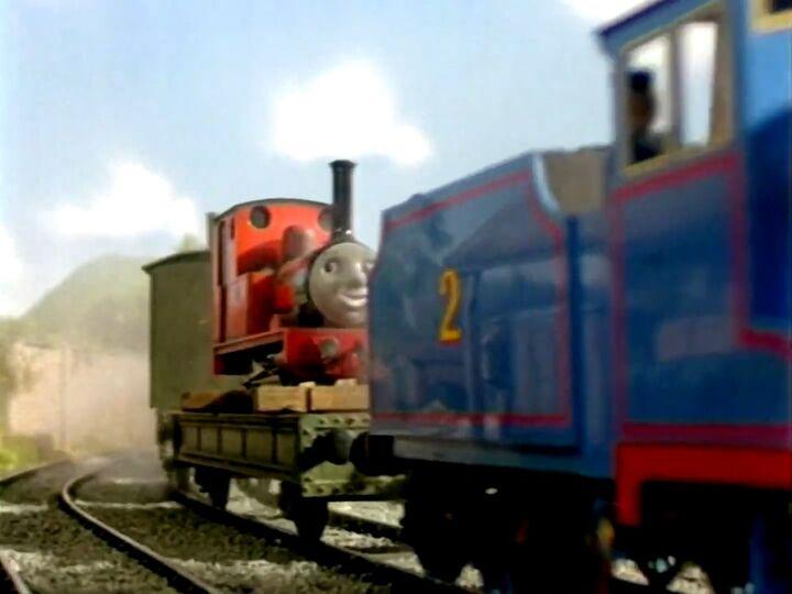 TV版第4シーズンのレニアスを乗せた貨車