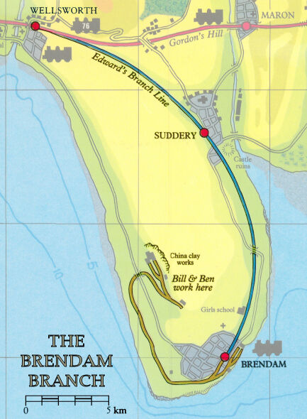 エドワードの支線の地図