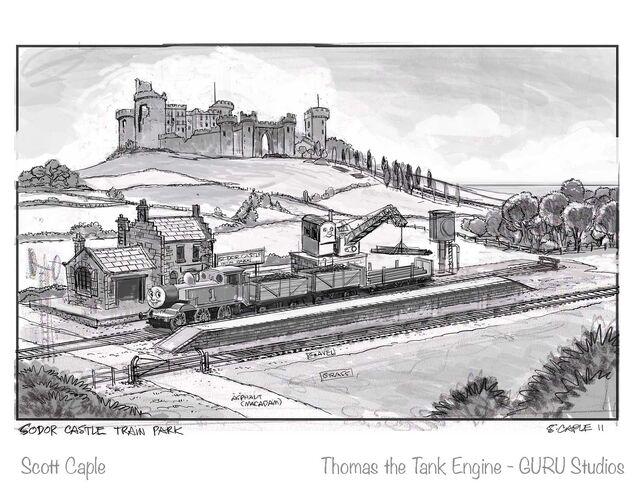 ウルフステッド城のコンセプトアート(コリン)