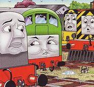 マガジンストーリーでデニスとソルティーとメイビスと共に居るボコ