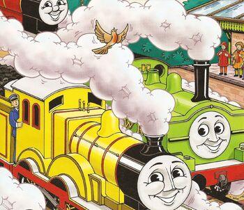 マガジンストーリーでジェームスとモリーと共に居るダック