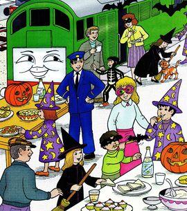 マガジンストーリーでボコと共にハロウィンパーティーに参加するテッド