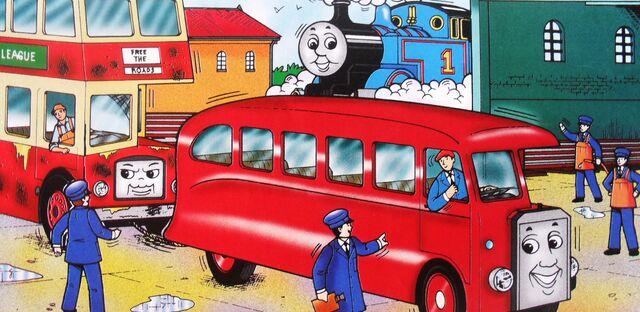 マガジンストーリーでトーマスとバーティーと共に居るバルジーの運転手