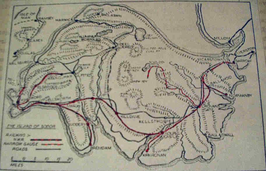1950年に描かれた最初のソドー島の地図