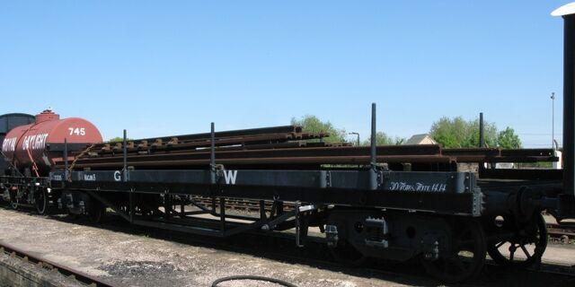 サーカスの平床式貨車のモデル車