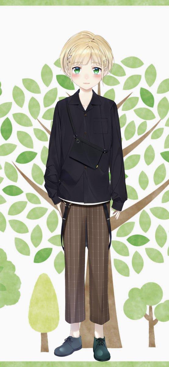 私服(髪型:編み込み)