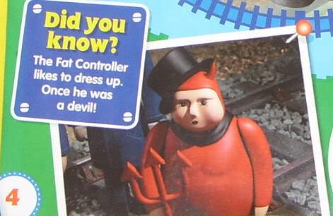 トップハム・ハット卿が悪魔の格好をしたシーン
