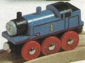 試作品の木製レールシリーズのトーマス