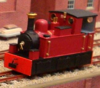 無名の濃赤の機関車のモデル機