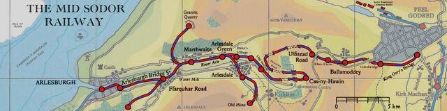 ミッド・ソドー鉄道の地図