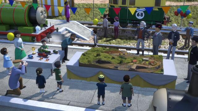 TV版第24シーズンの鉄道模型
