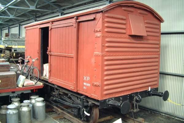 クリスマスの有蓋貨車のモデル機