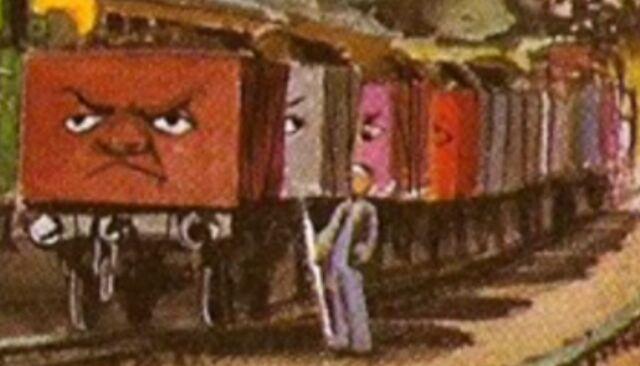 原作第24巻のバラスト貨車