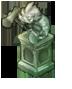 小妖鬼の彫像