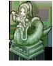 蛇人族の彫像