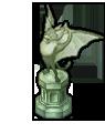 蝙蝠族の彫像