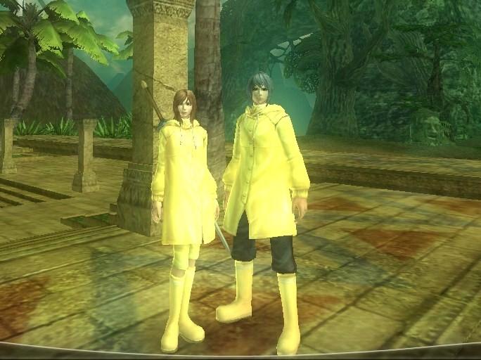 黄色いレインコート