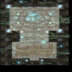 巨大なキューブの祭壇