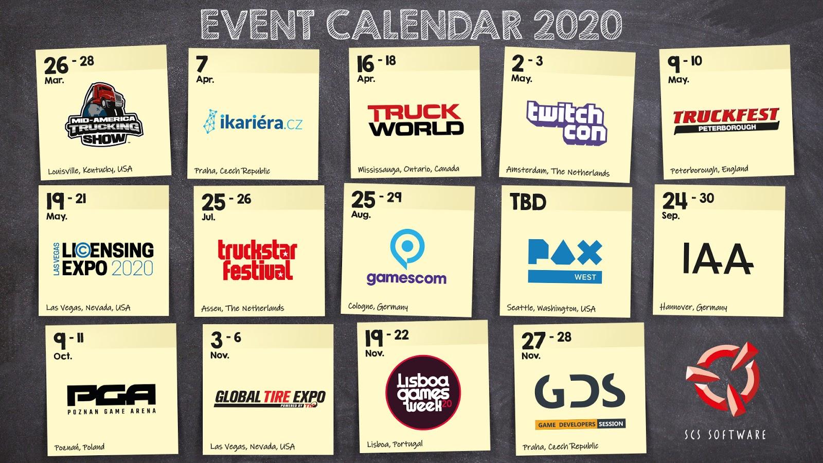 SCS 2020 Calendar