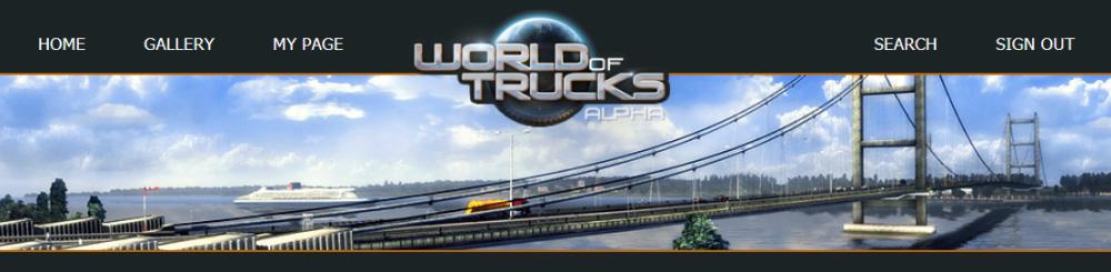 World of Trucks Web Topページ