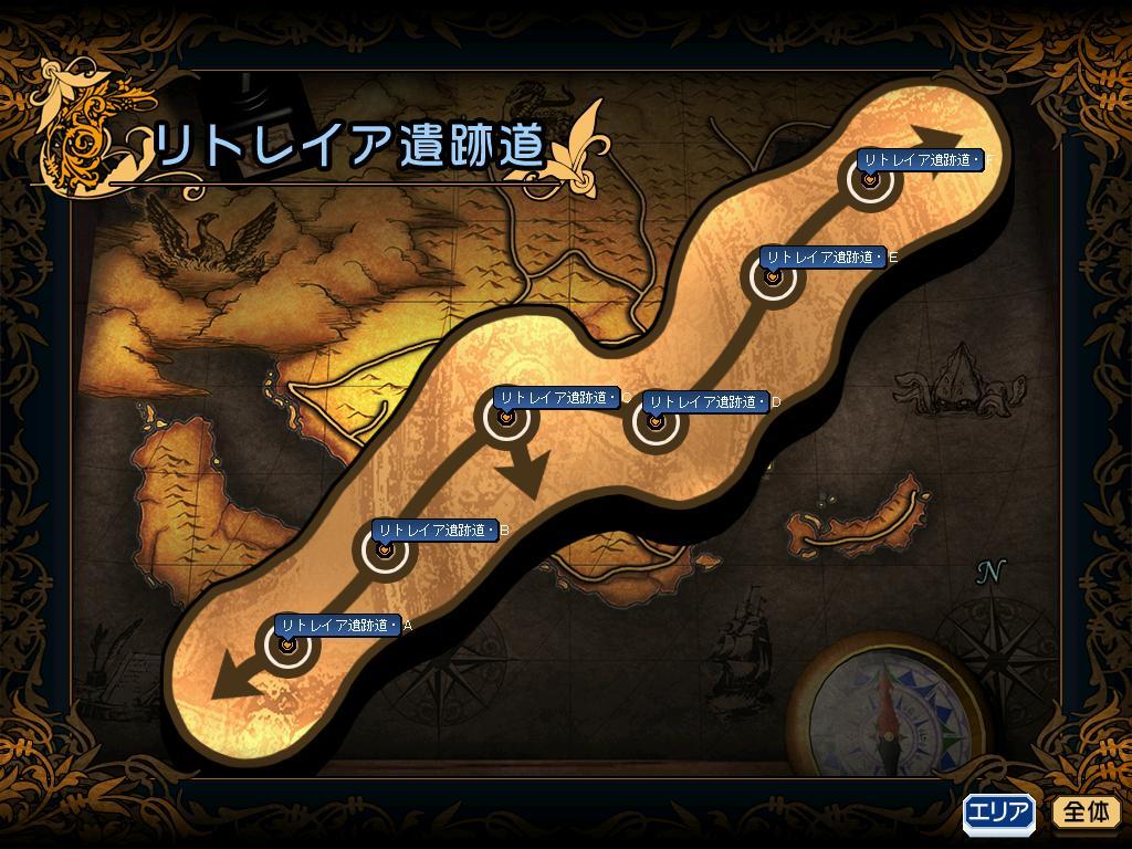 リトレイア遺跡道MAP