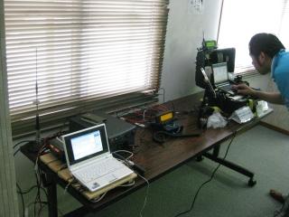 APRS機器の展示