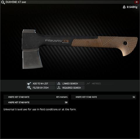 X7 axe - Escape from Tarkov Wiki*