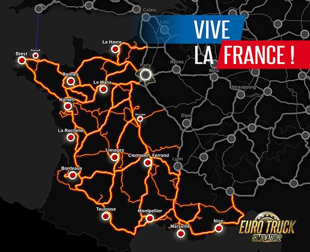 Vive la France!拡大マップ