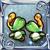 新緑の耳飾り