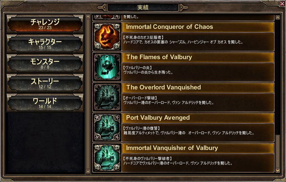 Achievements of Valbury Completed