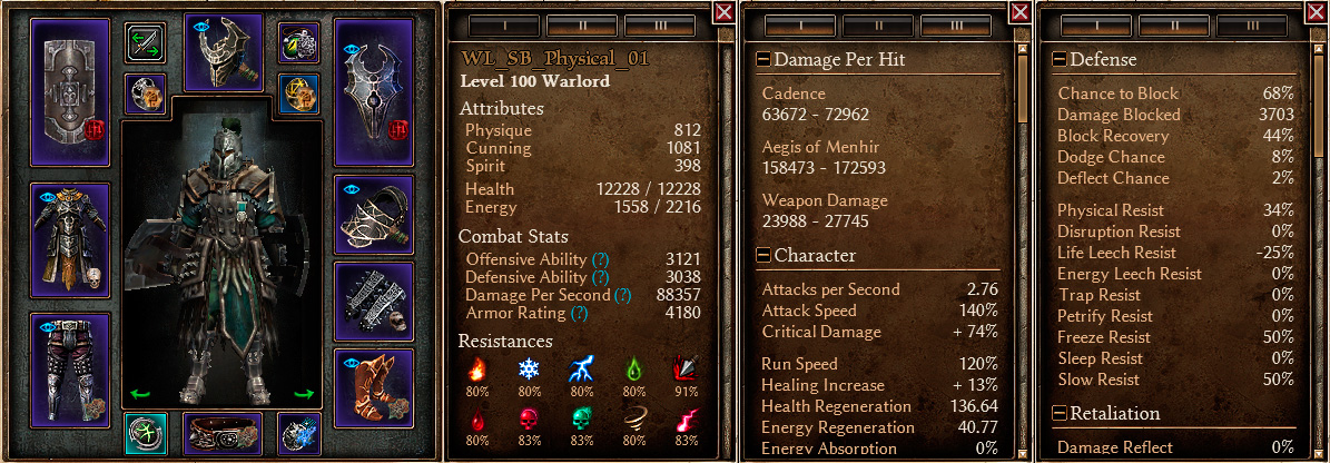 Grim Dawn Warlord Build