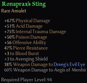 Ronaprax's Sting