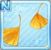 舞い散る銀杏 黄