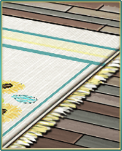 夏床板と向日葵敷物.png