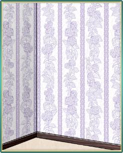 紫陽花柄の白い壁紙.png