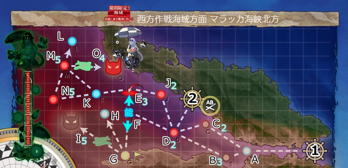 西方作戦海域方面 マラッカ海峡北方