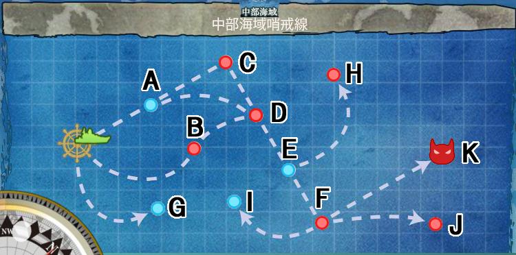 中部海域哨戒線