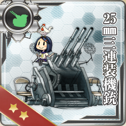 040:25mm三連装機銃