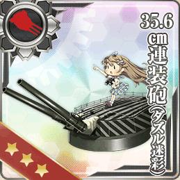 104:35.6cm連装砲(ダズル迷彩)
