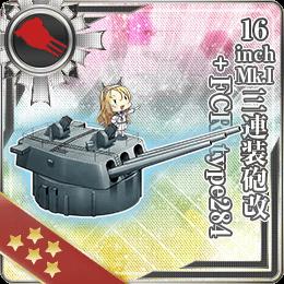 300:16inch Mk.I三連装砲改+FCR type284