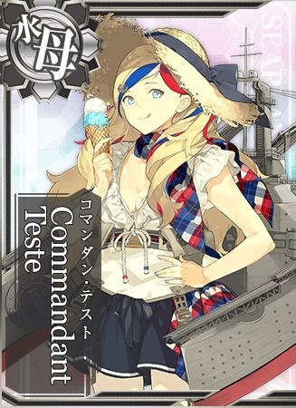 提督。艦隊の皆さんに合わせて、わたくしも夏はこのような…おかしいですか? うん、Merci♪